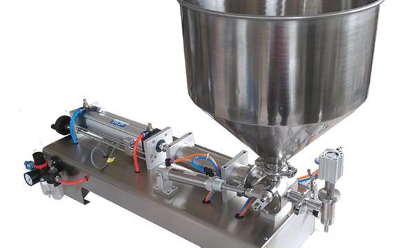 Ημι-αυτόματη μηχανή γεμίσματος γεμιστή με γυάλινες φιάλες