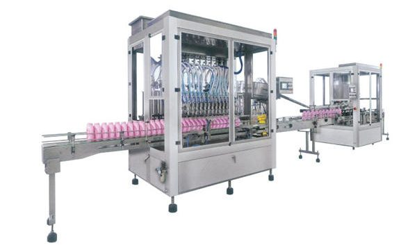 Αυτόματη μηχανή πλήρωσης απορρυπαντικών από ανοξείδωτο χάλυβα