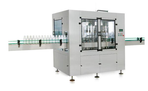 Αυτόματη μηχανή πληρώσεως υγρού σαπουνιού με γραμμικό έμβολο οκτώ κεφαλών
