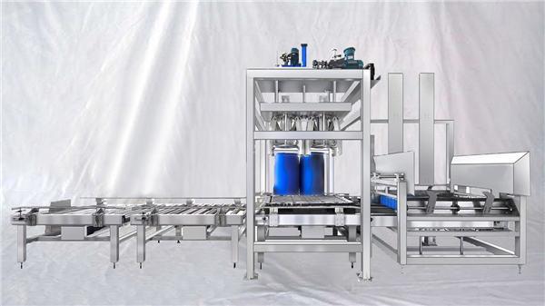 Προσαρμοσμένη σειρά ESDF 100-1000L χωρητικότητα μεγάλου τυμπάνου αυτόματη πλήρωση μηχανή
