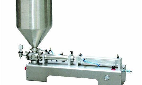Ημι-αυτόματη θερμαντική λοσιόν λοσιόν λοσιόν / υγρά μπουκάλι πλήρωσης εμβολοφόρο μηχάνημα